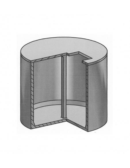 Cuve béton ronde 8000L