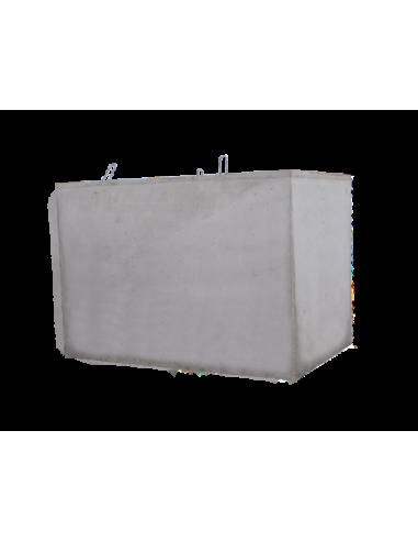Cuve béton rectangulaire 3000L