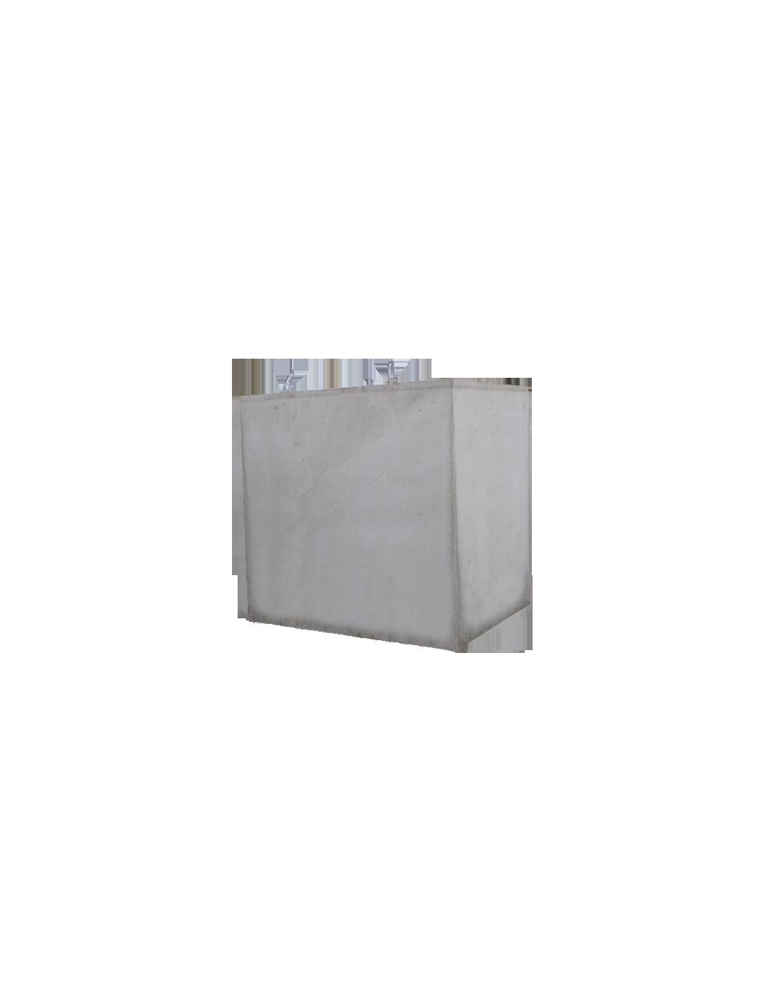 Cuve béton rectangulaire 5800L - Vente et pose de Cuves ... - Cuve Beton